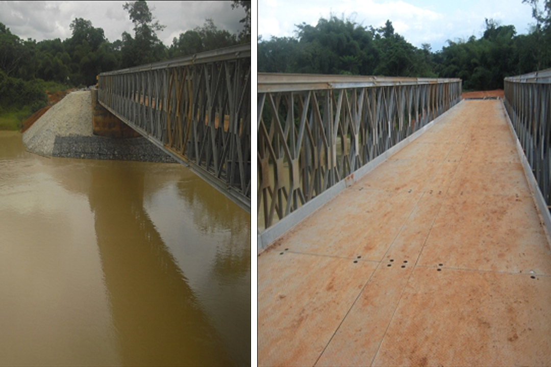 COMPLETED STEEL BIDGE AT ASSAMANG_OWUSUKROM ON RIVER OFFIN