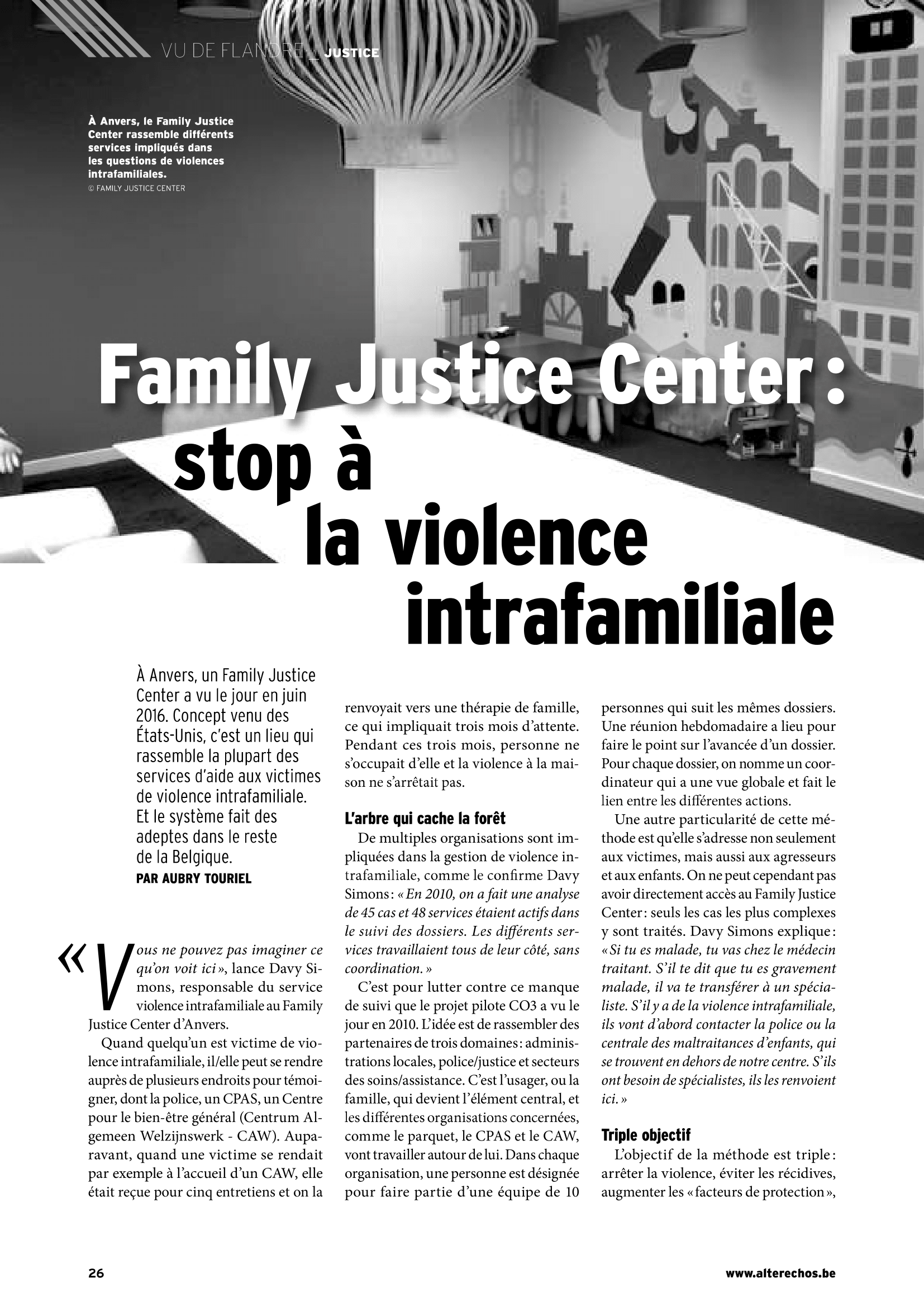 Family justice center: stop à la violence intrafamiliale