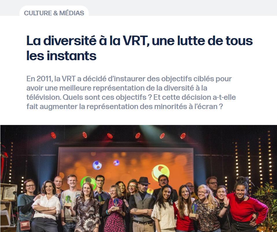 La diversité à la VRT: une lutte de tous les instants
