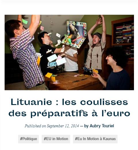 Lituanie: les coulisses des préparatifs à l'euro