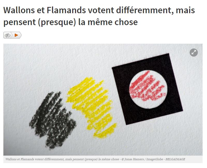 Wallons et Flamands votent différemment mais pensent presque la même chose