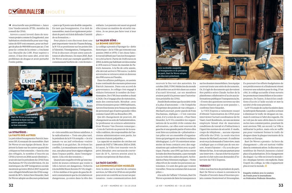 Six ans de N-VA à Anvers: le bilan