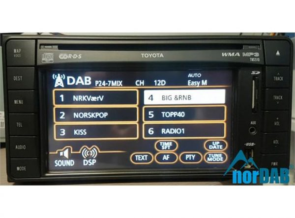 norDAB Premium DAB-integrering