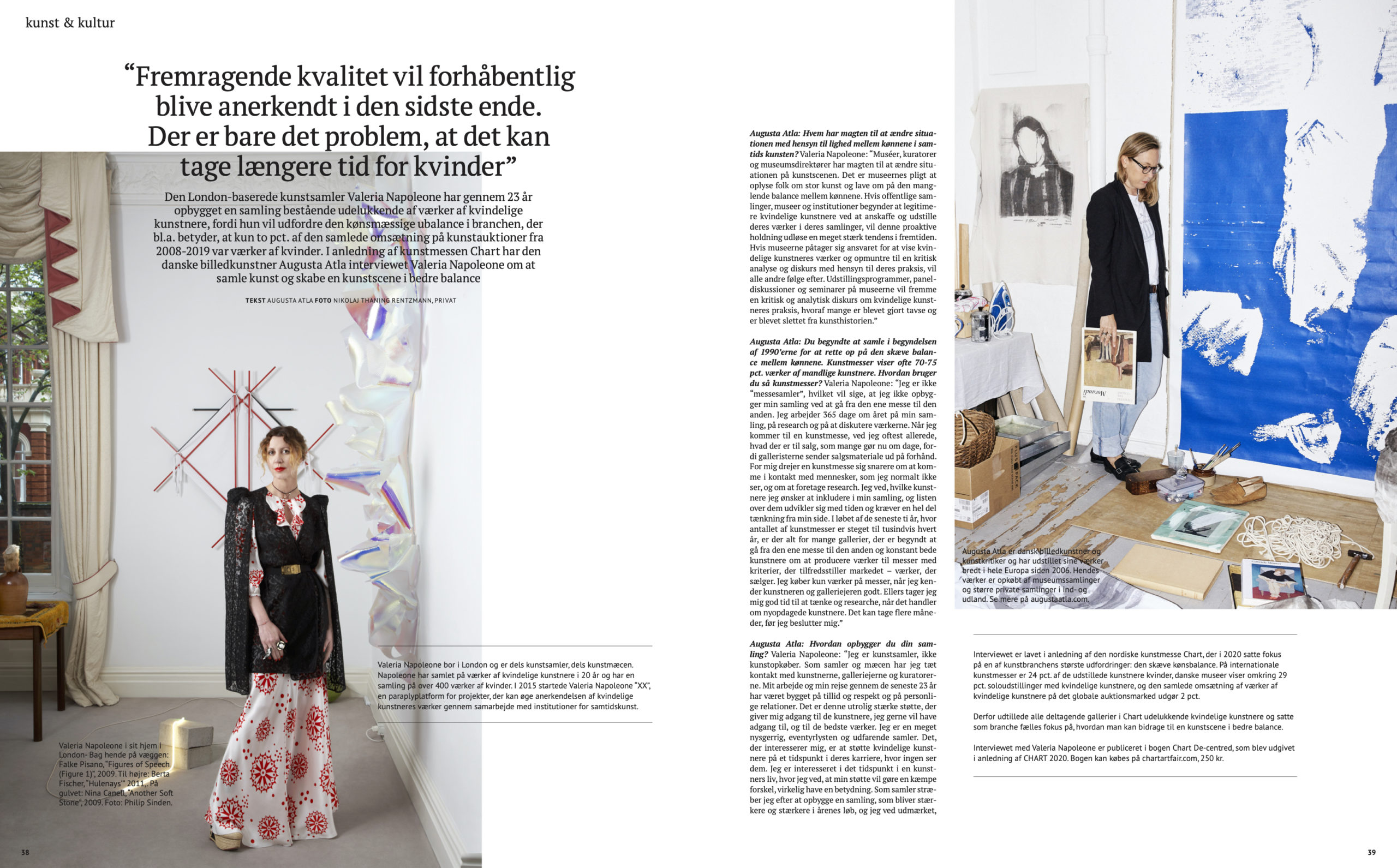 Interview with Valeria Napoleone by the Danish artist Augusta Atla in Børsen Pleasure 2020