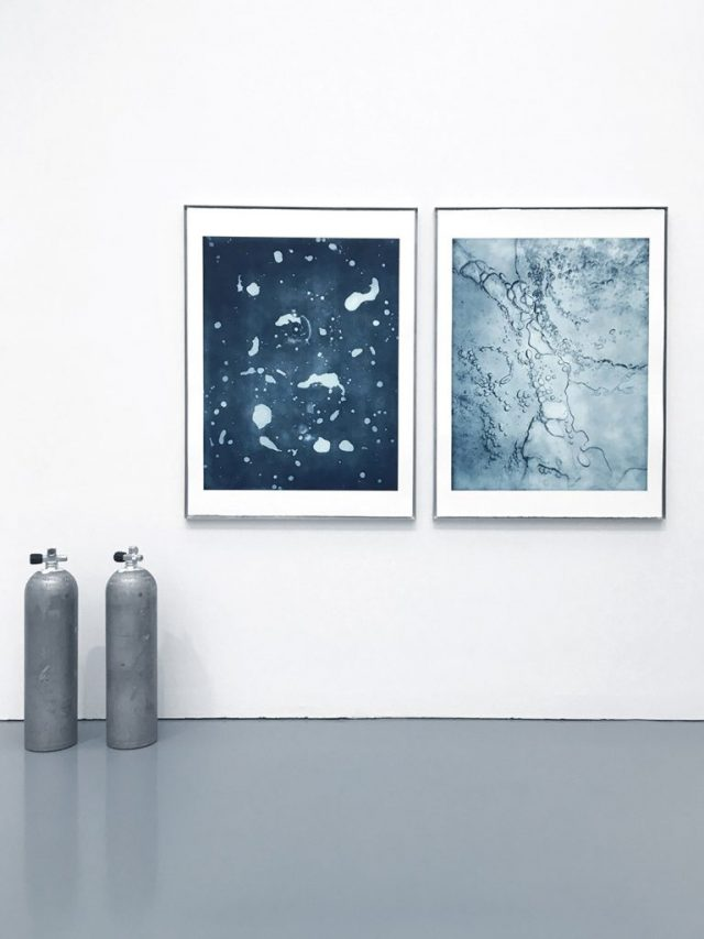 Air under Ice – two photogravures on handmade paper, each 121 x 91 cm, 2019