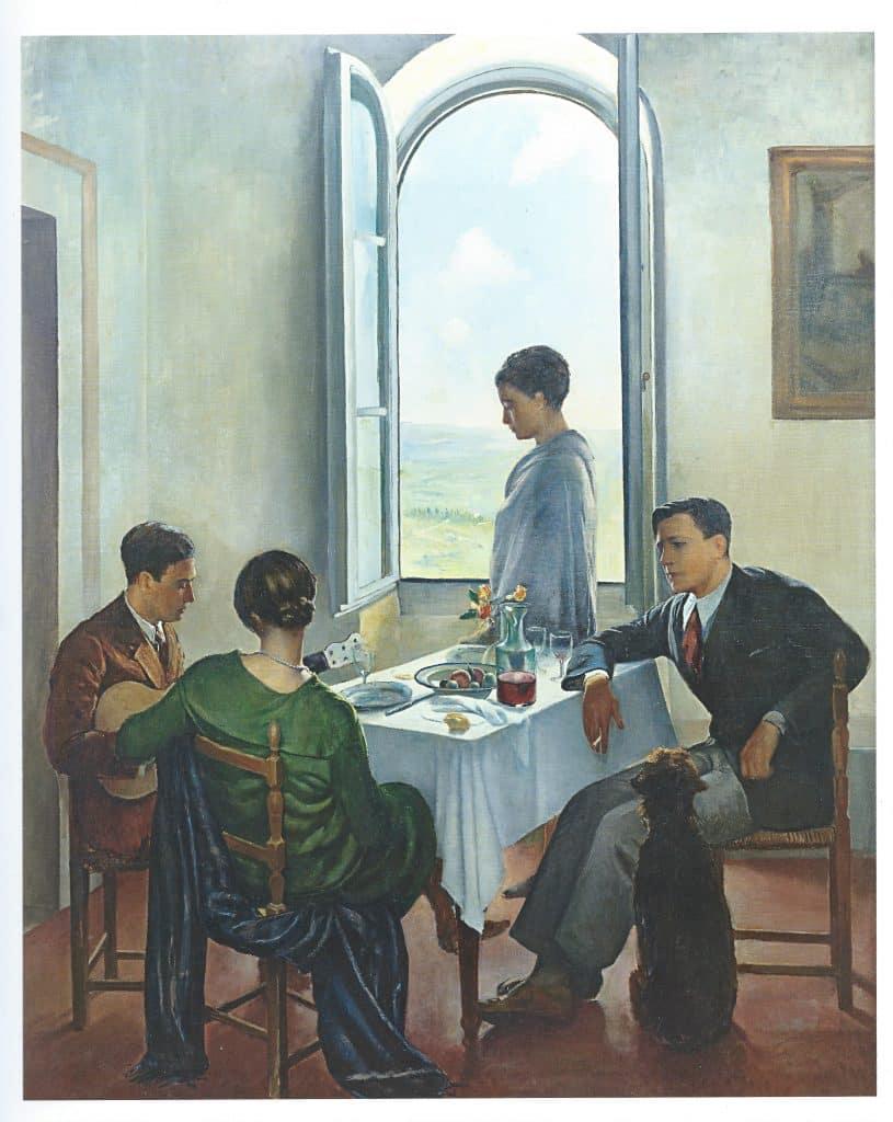 Baccio Maria Bacci, Pomeriggio a Fiesole, 1926 -1929, Öl auf Leinwand, 224,5 x 180 cm