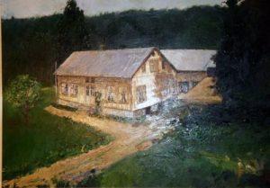 Bilde av gården malt av Jarle Sundt (mannen til min kusine)