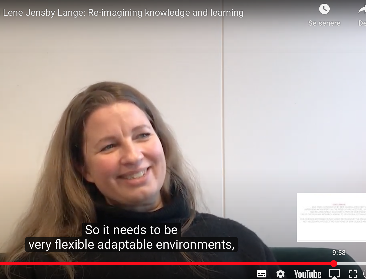 Interview: EGA-Talks with Lene Jensby Lange - re-imagining knowledge environments