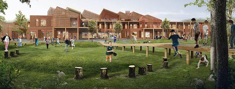 Skolen på toppen af bakken - ny Dybkærskole