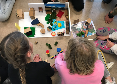 Students redesigning the classrooms at Søllested School