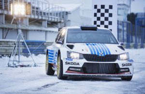 FABIA R5 Monte Carlo during test drives with pilot Jan Kopecky at Autodrom Sosnova on Wednesday, Jan. 4th, 2017.