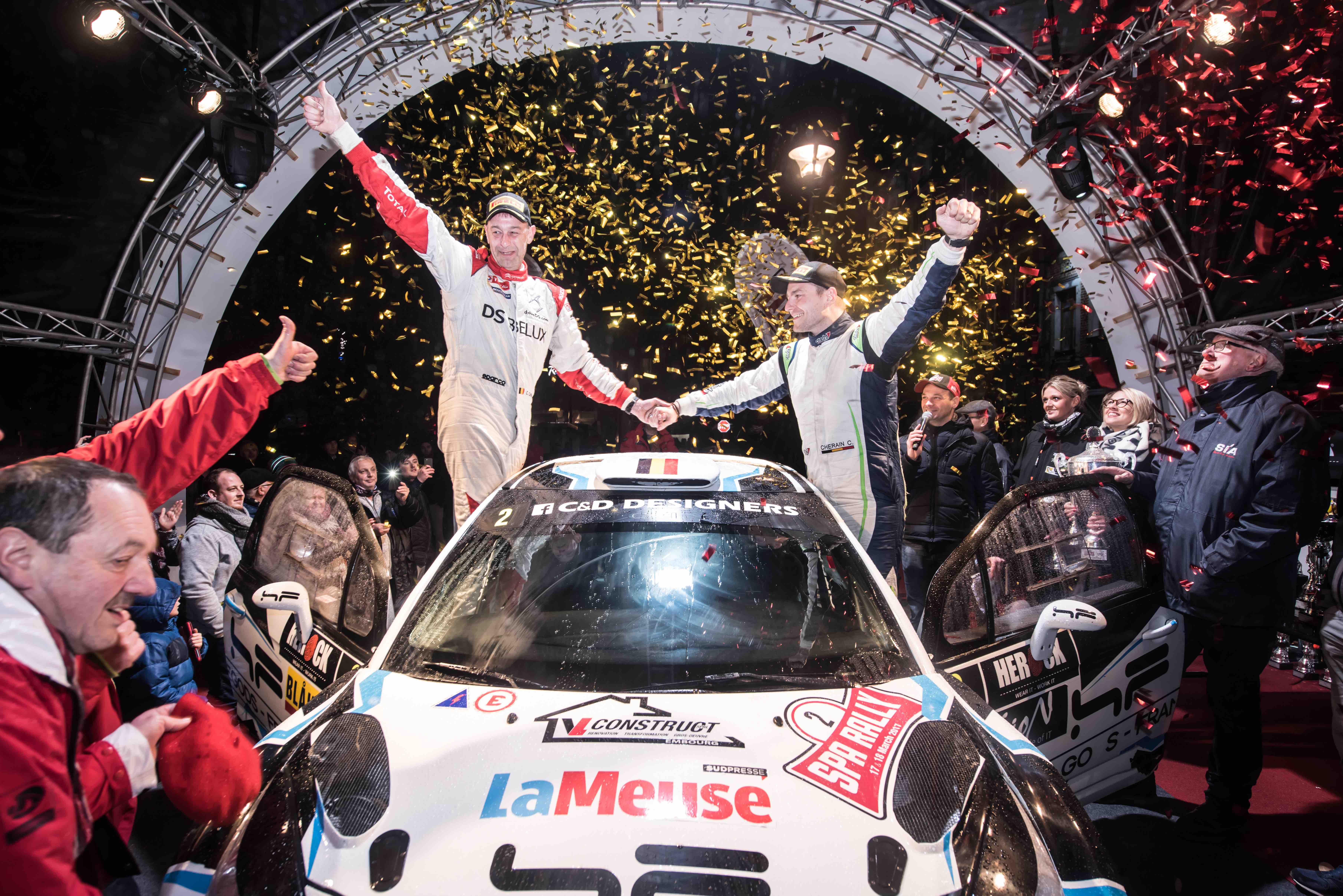 Cédric Cherain wint in extremis de Spa rally