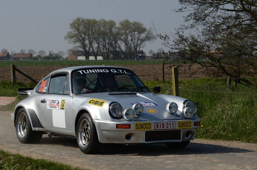 Porsche's in de TAC Rally 2017  Wilfried Geerts
