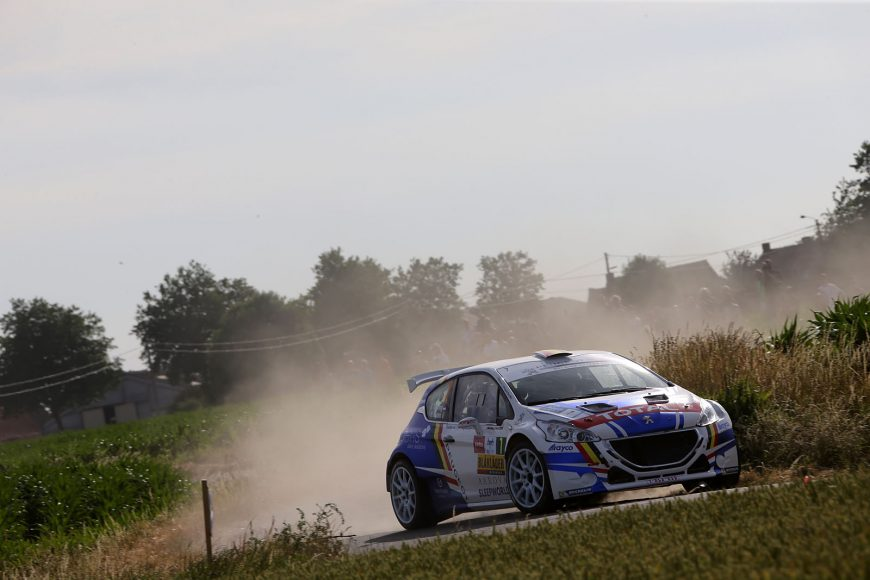 20170622:Ypres-Belgium: Peugeot team in action at the first day of the Ypres Rally Friday 23 June near, Ypres-Belgium