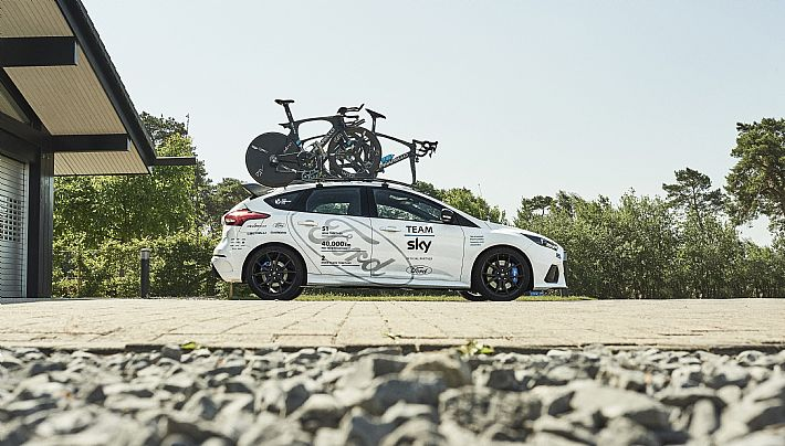Ford specialleke voor de Ronde Van Frankrijk en Sky.