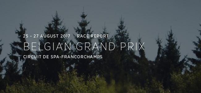 MC Laren in de GP van België.