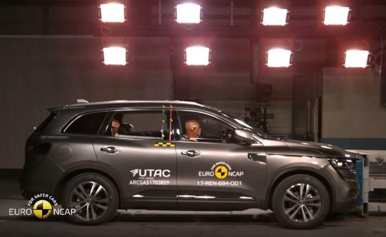 Nieuwe Renault KOLEOS: maximumscore van 5 sterren in Euro NCAP-tests