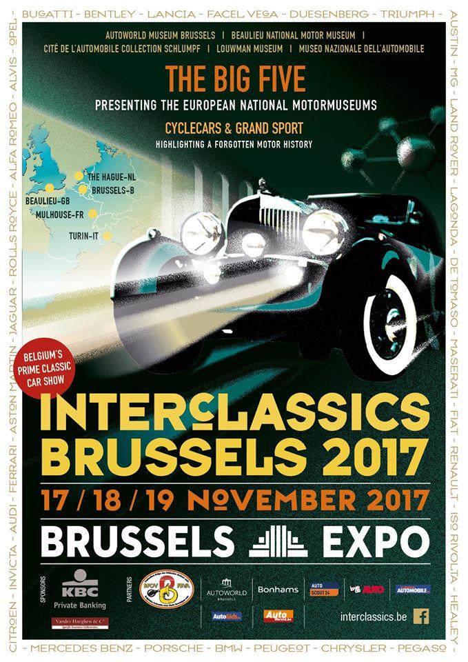 Vijftien topstukken motormusea Europa op InterClassics Brussels