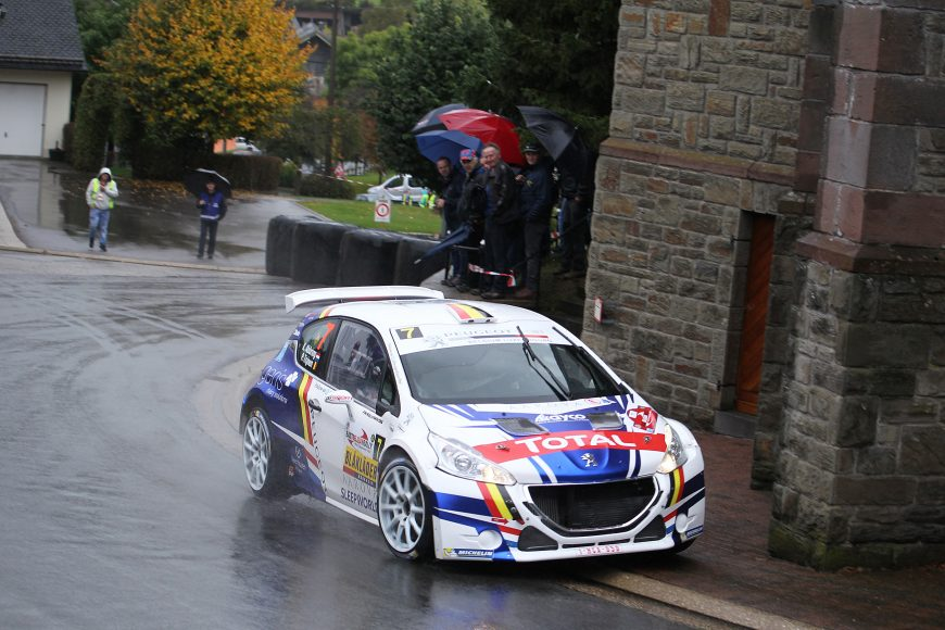 20170930: ST-Vith-Belgium:  East Belgium Rally, the 8° round of the Belgian Rally Championship,  Saturday 30 September  near, St Vith Belgium PEUGEOT TEAM BELUX IN ACTION