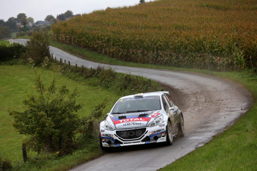 20170930: ST-Vith-Belgium:  East Belgium Rally, the 8° round of the Belgian Rally Championship, Saturday 30 September  near, St Vith BelgiumPEUGEOT TEAM BELUX IN ACTION