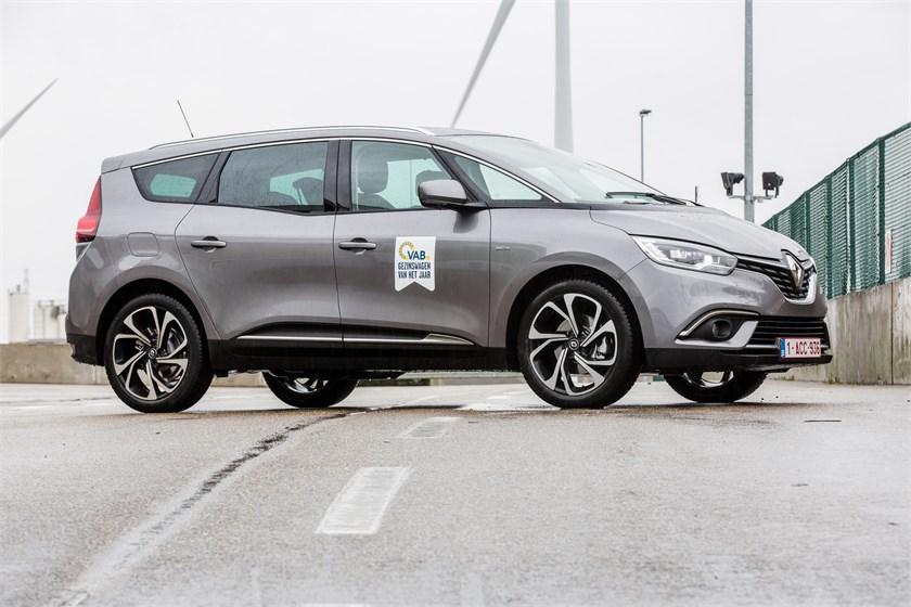 In de categorie tot 29.500€: Renault Grand Scénic, VAB-Gezinswagen van het Jaar 2018