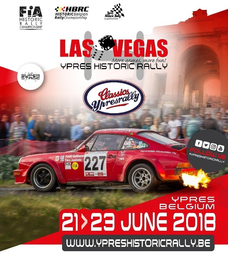 De Ypres Historic Rally keert terug naar Ieper !
