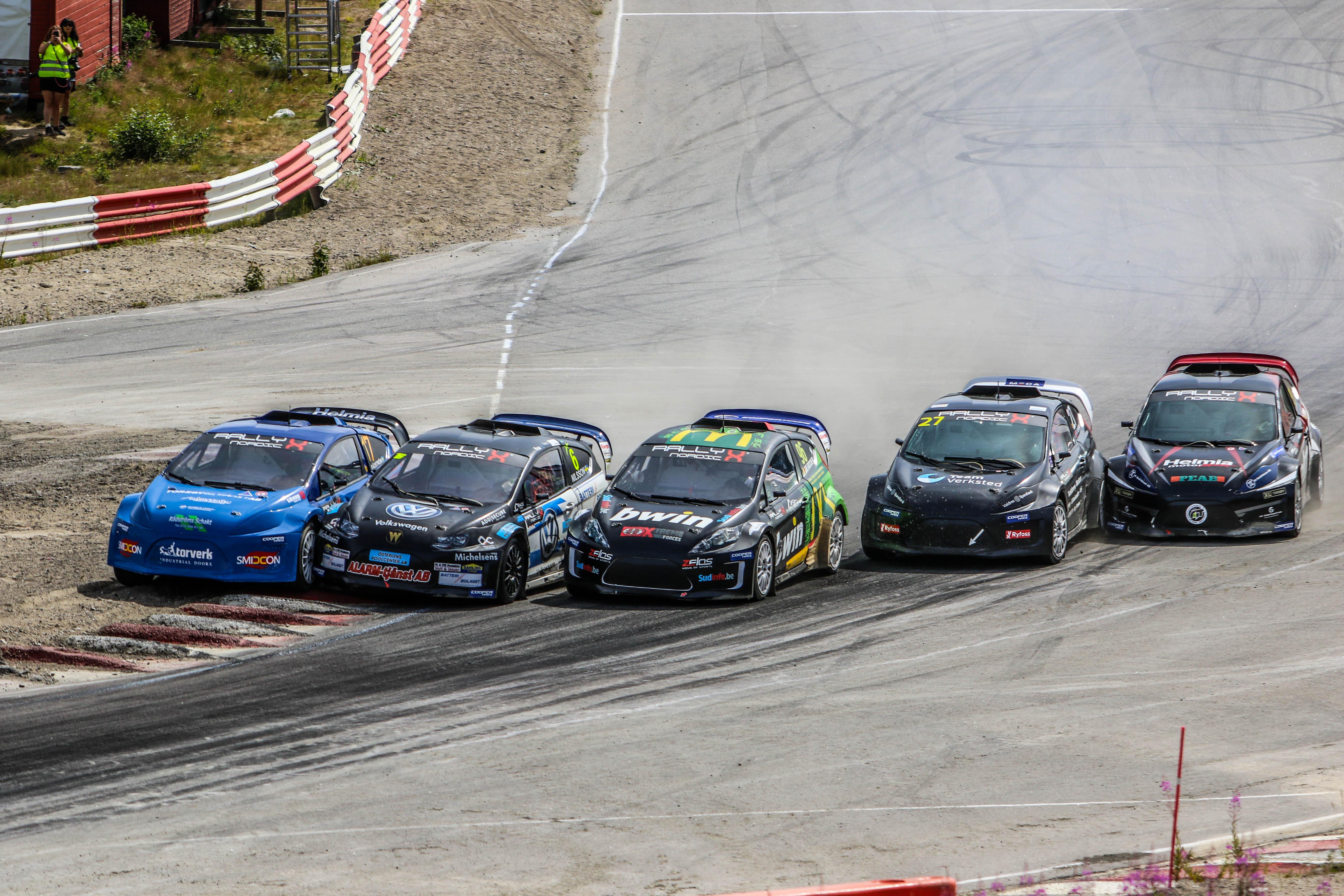 Hattrick voor Guillaume de Ridder in RallyX Nordic
