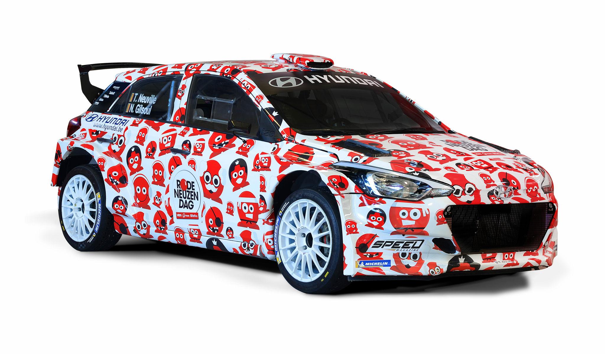 Rally Ieper: Thierry Neuville en Hyundai Belgium steunen Rode Neuzen Dag 2018