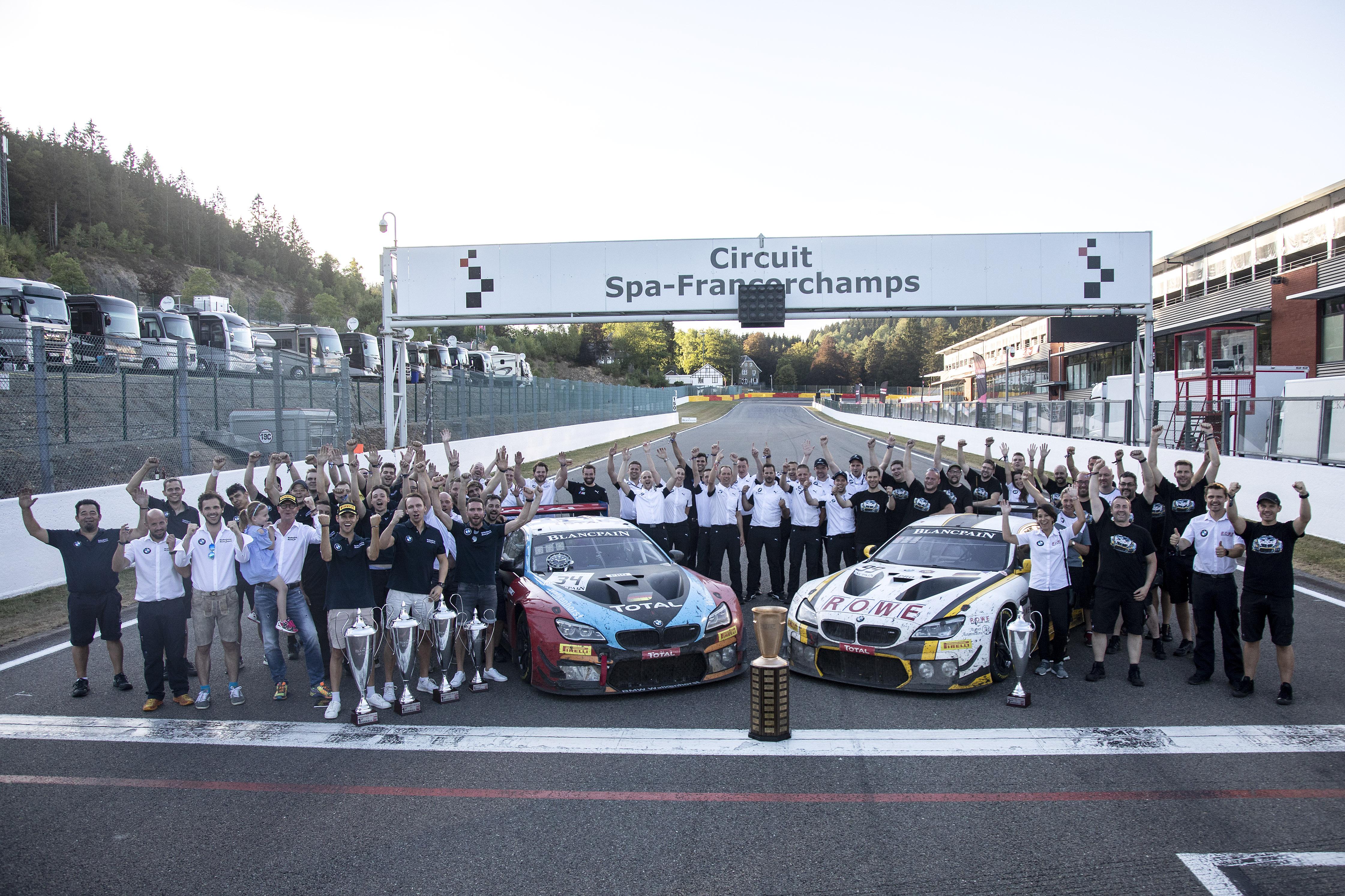 Dubbele overwinning voor BMW op de 24 Uur van Spa-Francorchamps.