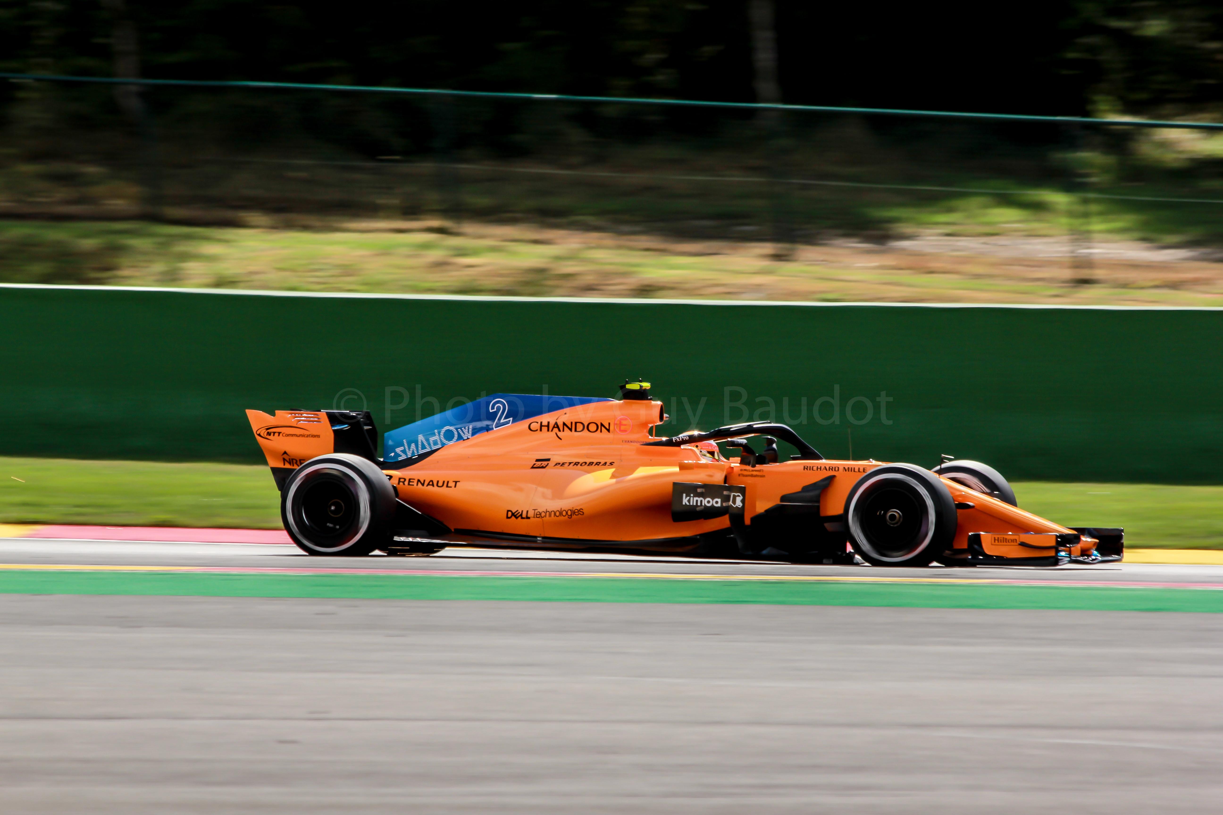 Formule 1 op Franchorchamps. Guy Baudot