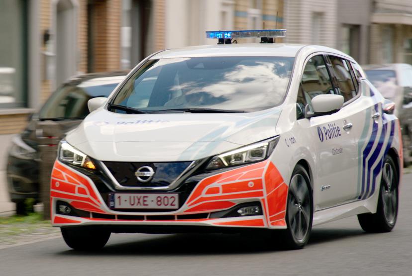 Politie Oostende kiest voor Nissan LEAF 100% elektrisch.