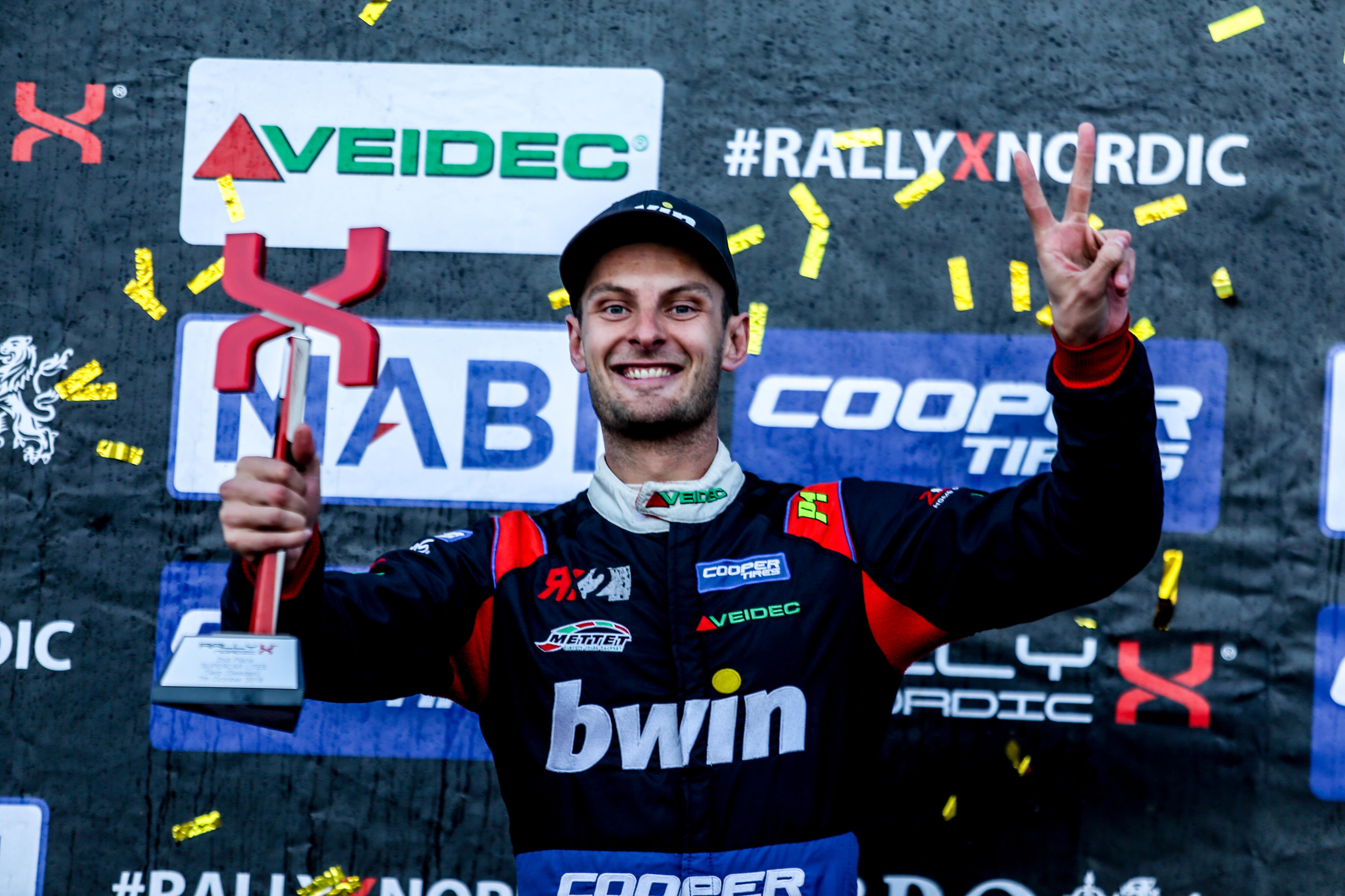 Guillaume De Ridder RallyX Nordic-kampioen!