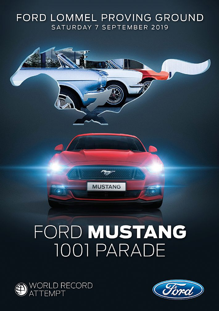 Wereldrecordpoging: 1001 Ford Mustangs
