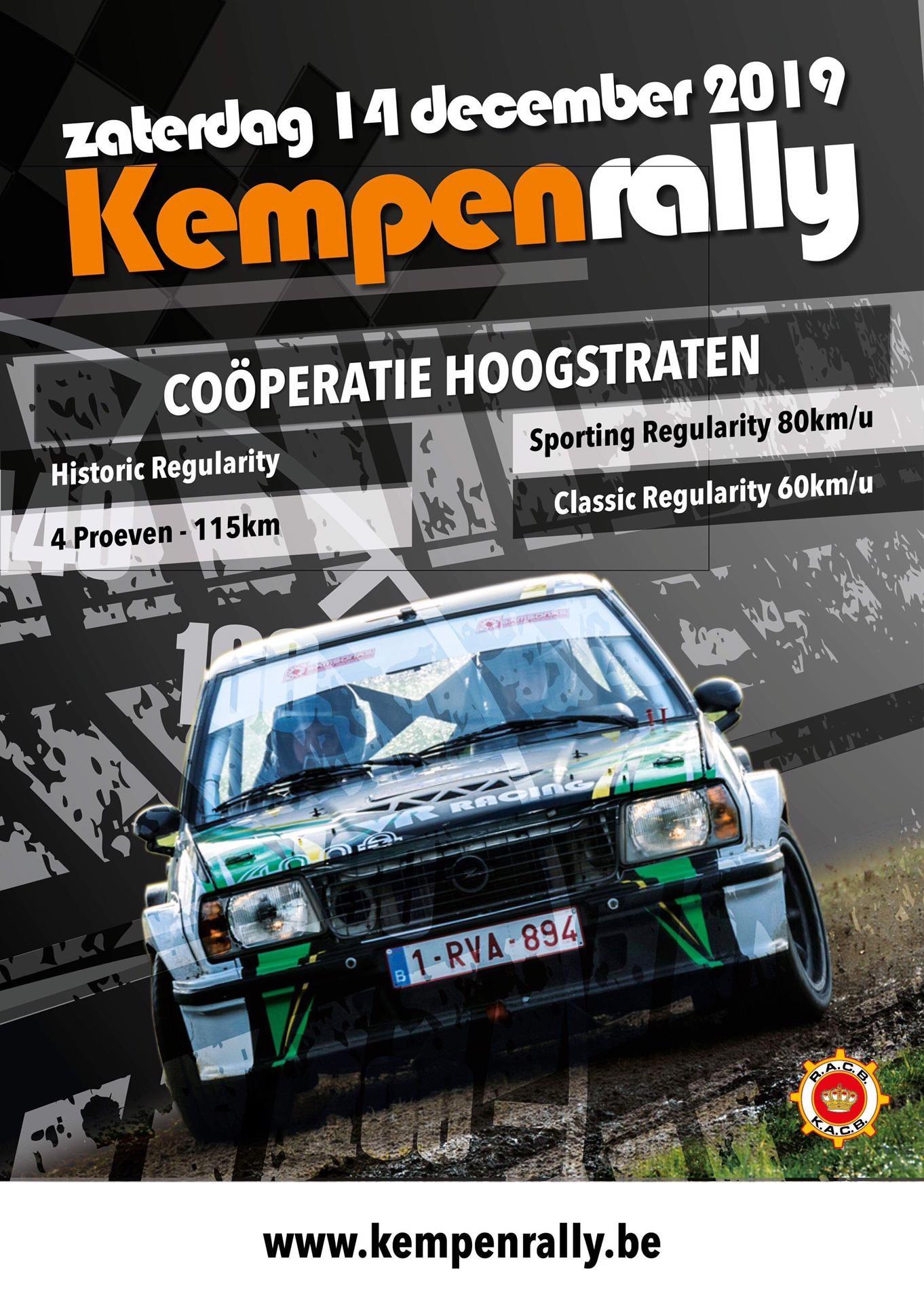Kempenrally 2019 – Hoogstraten – 14 december