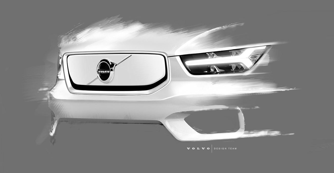 De volledig elektrische Volvo-SUV XC40