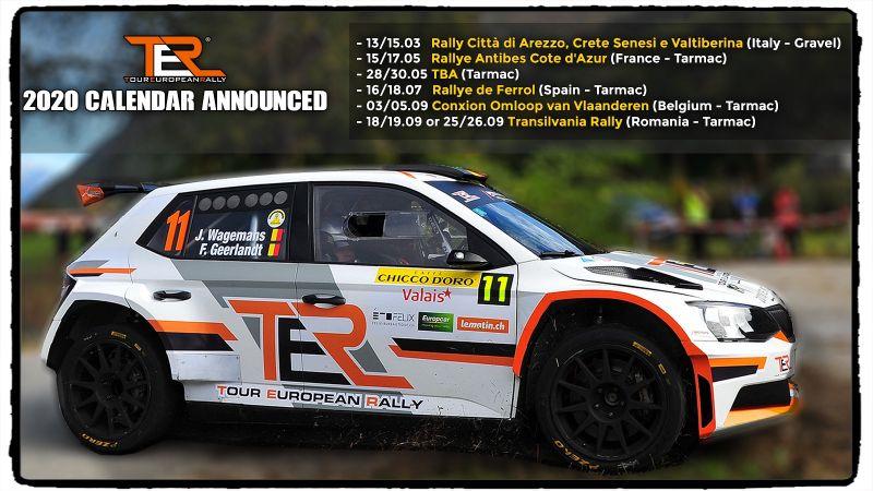TER – Tour European Rally 2020 Calendar announced