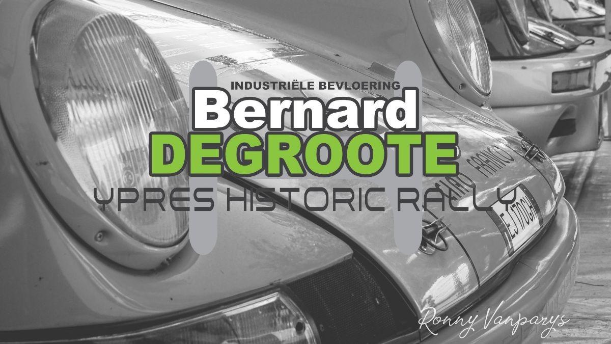 Bernard Degroote Ypres Historic Rally op het hoofdpodium!