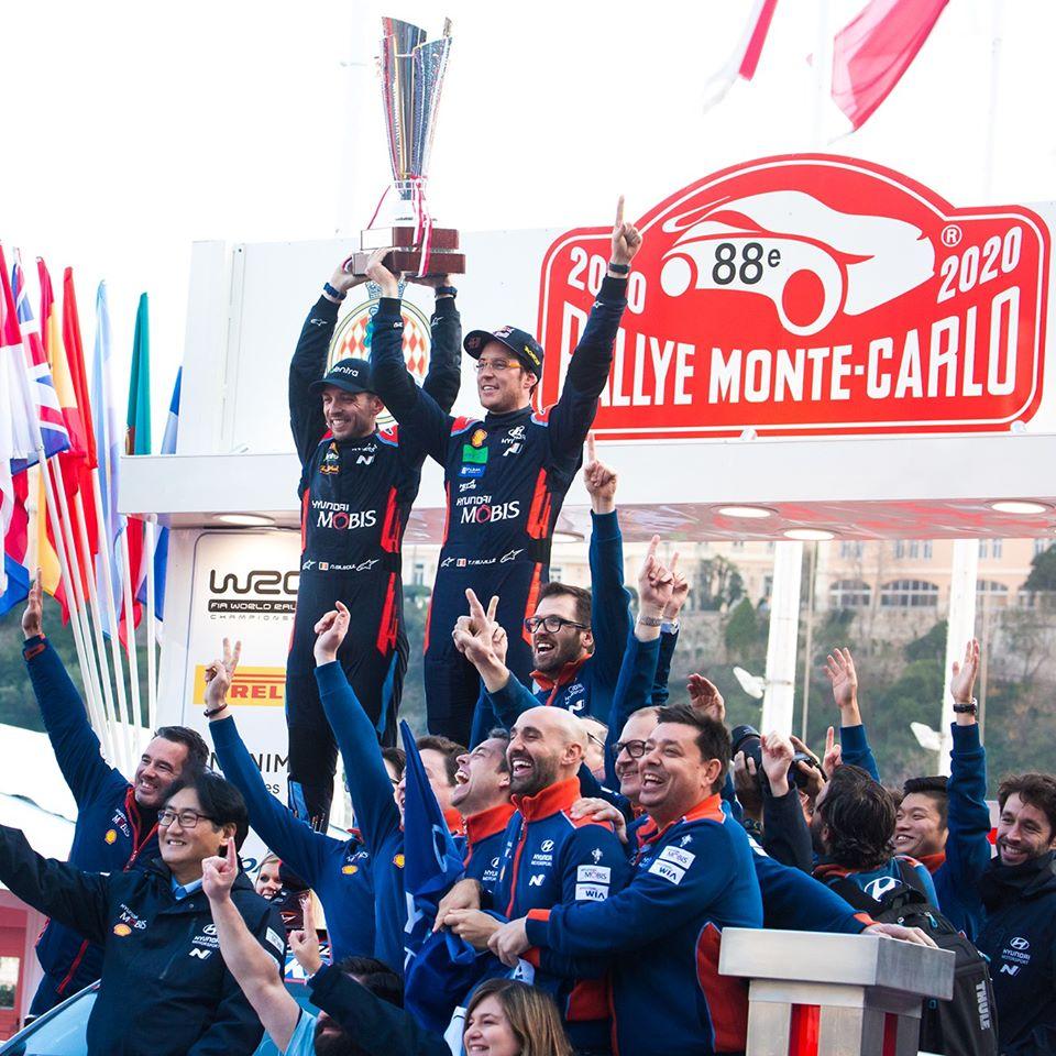 Thierry Neuville en Nicolas Gilsoul winnen Monte Carlo WRC rally 2020