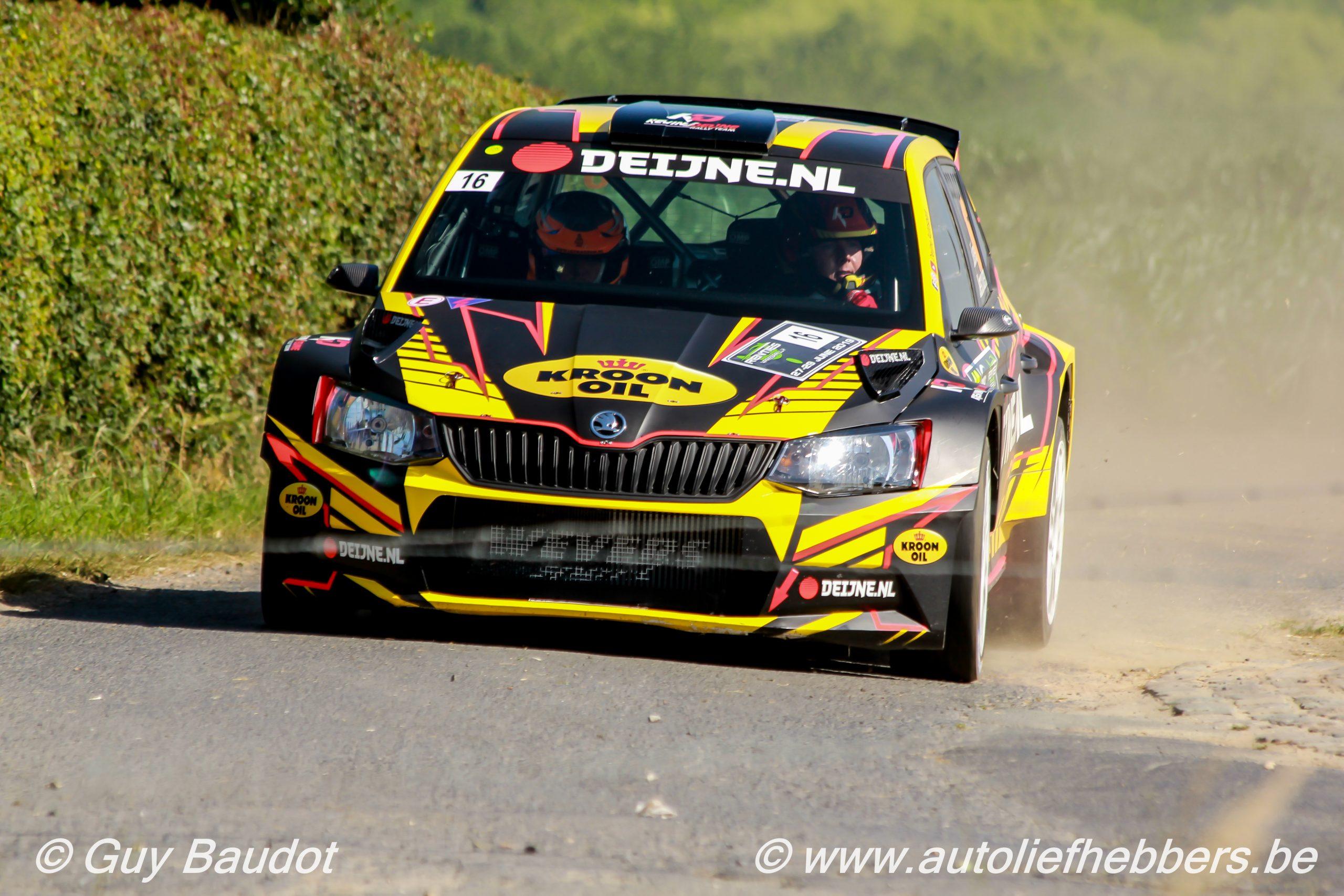 Powerstage in tweedaagse rally's van het Kroon-Oil Belgian Rally Championship