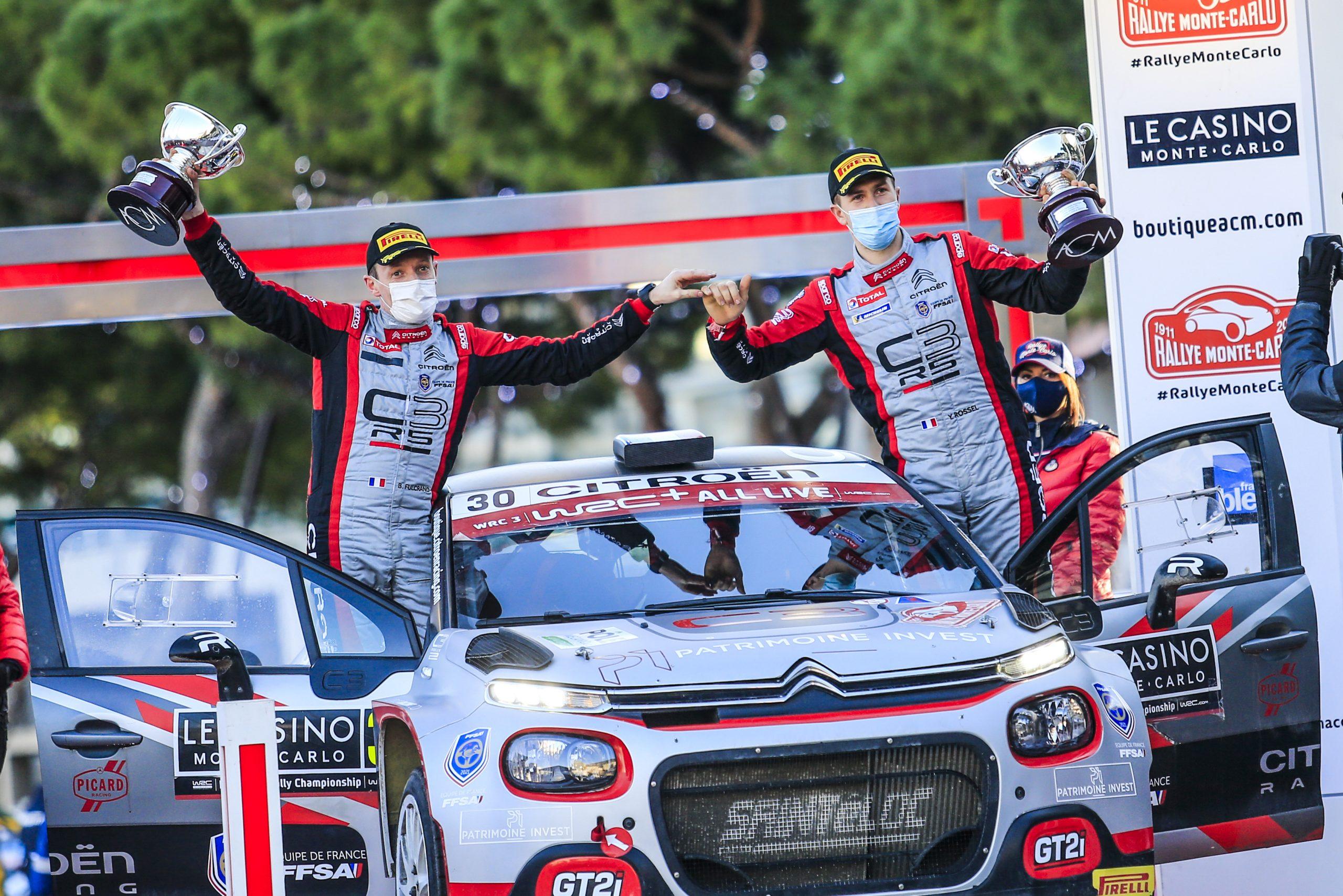 C3RALLY2 FAMILY DOMINEREN WRC3-CATEGORIE OP WRC-SEIZOENOPENERRALLY MONTE-CARLO Customer Racing
