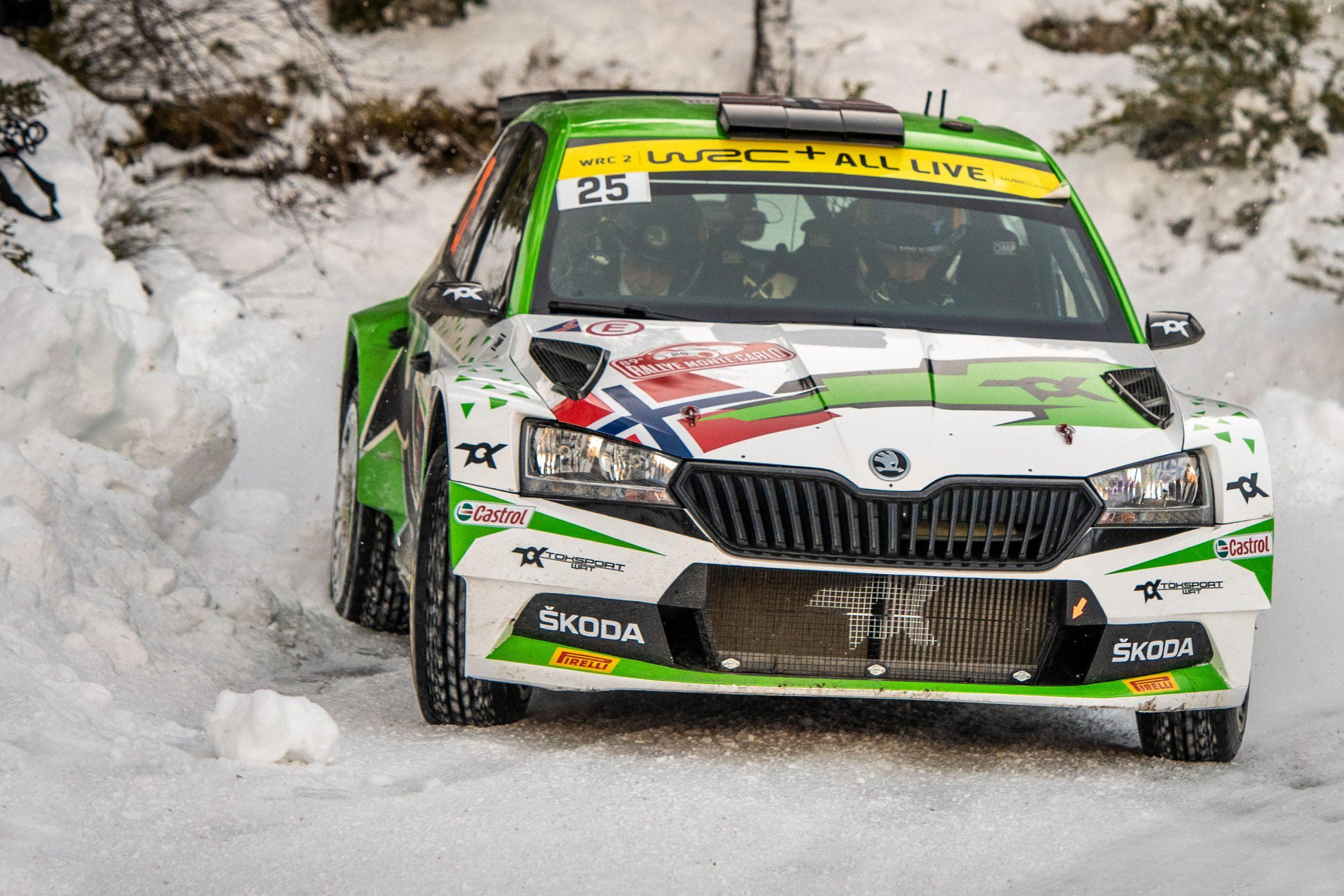 Rallye Monte-Carlo: ŠKODA AUTO Motorsport ondersteund Andreas Mikkelsen wint WRC2