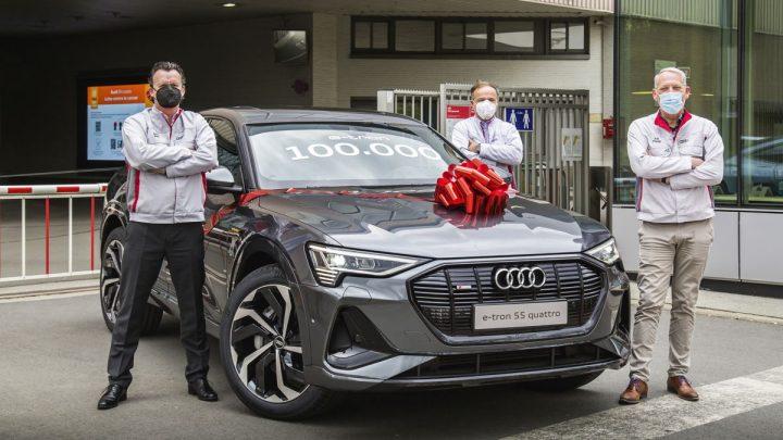 Audi Brussels bouwt 100.000e Audi e-tron