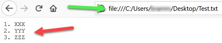 Bladwijzer tekstbestand in URL