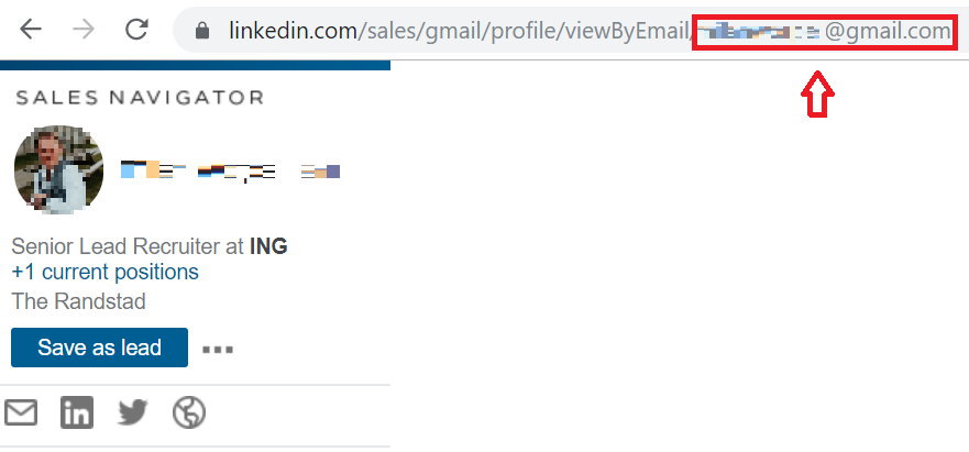 Find the email address of a LinkedIn user