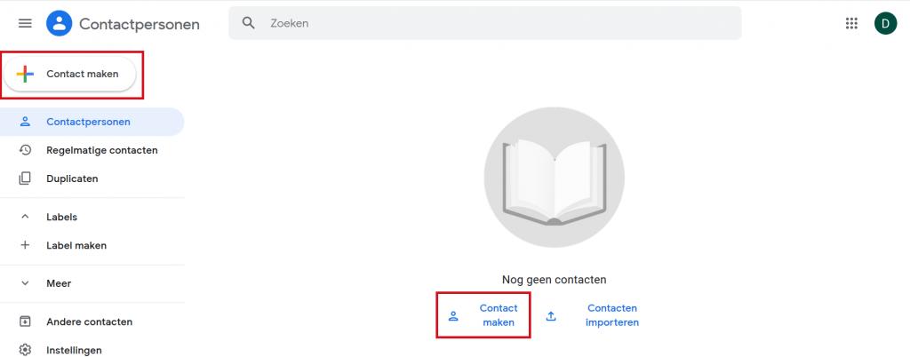 Gmail contact maken