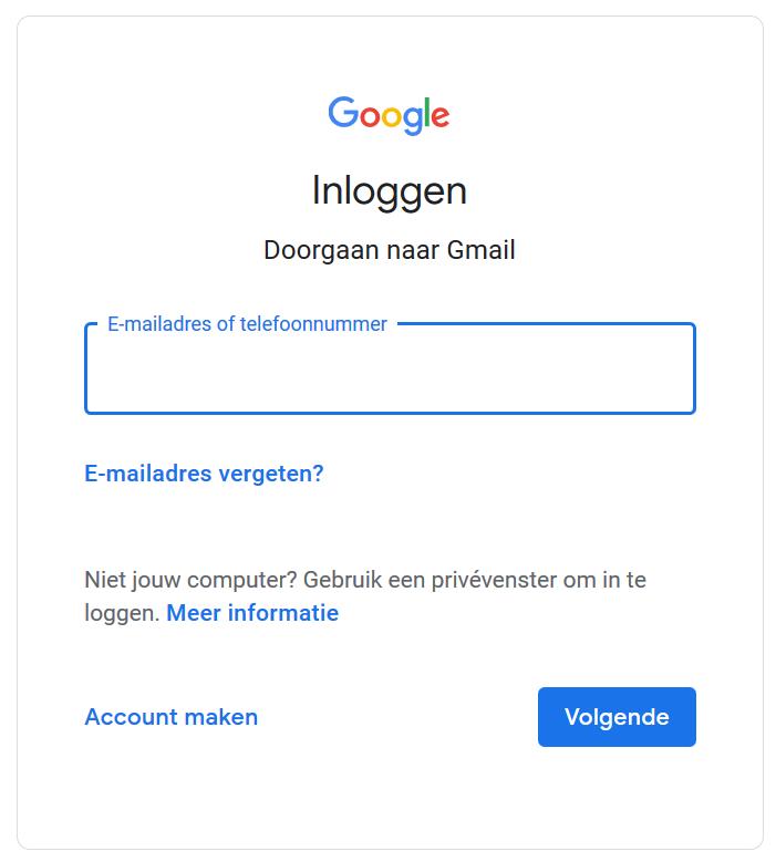 Gmail inloggen