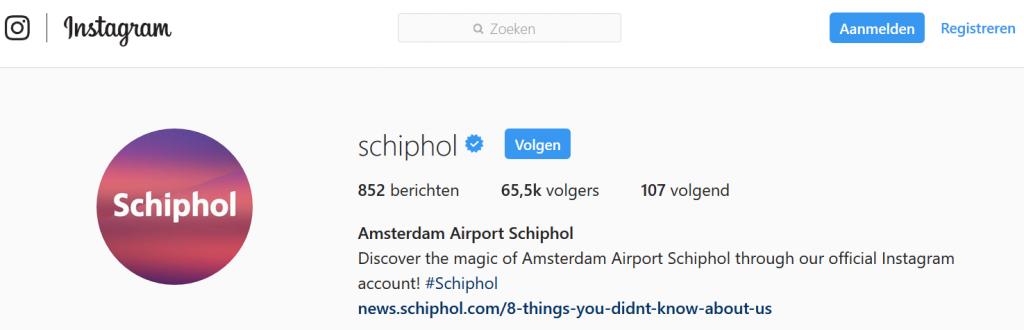 Instagram schiphol
