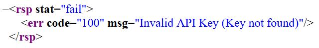 Invalid API Key