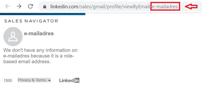 LinkedIn email address