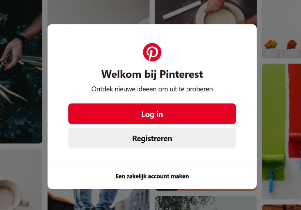 Pinterest welcome